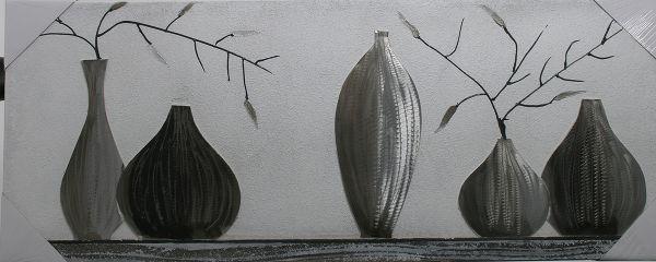 Stilleben Handgemalt 40 x 100 x 3 cm